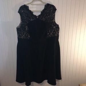 London Times Black Dress 22W